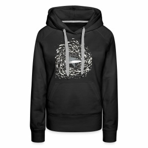 Shark and school of fish - Women's Premium Hoodie