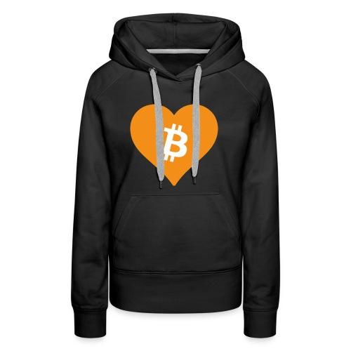 Bitcoin Heart - Vrouwen Premium hoodie