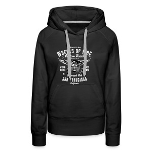 WHEELS OF FIRE - Motorrad Motorcycles Biker Shirt - Frauen Premium Hoodie