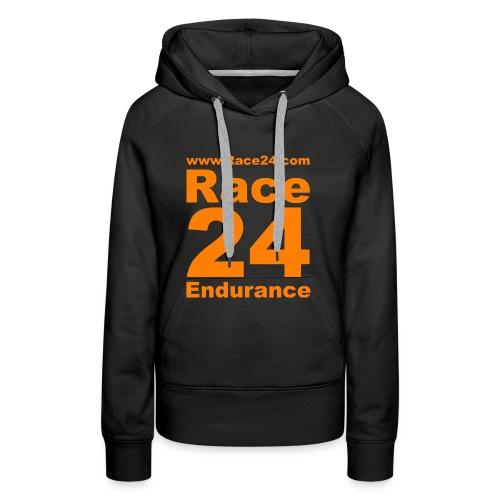 Race24 Logo in Orange - Women's Premium Hoodie