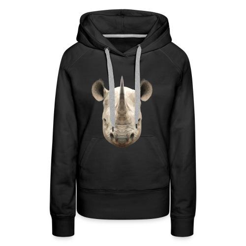 LowPoly Rhino - Premiumluvtröja dam