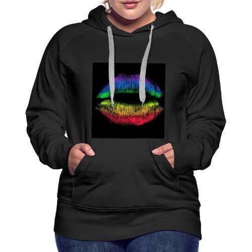D2 levres - Sweat-shirt à capuche Premium pour femmes