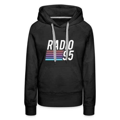 La t-shirt di Radio95! - Felpa con cappuccio premium da donna