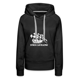 Stock Car Racing car and flag - Women's Premium Hoodie