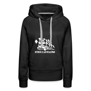 Stock Car with chequered flag - Women's Premium Hoodie