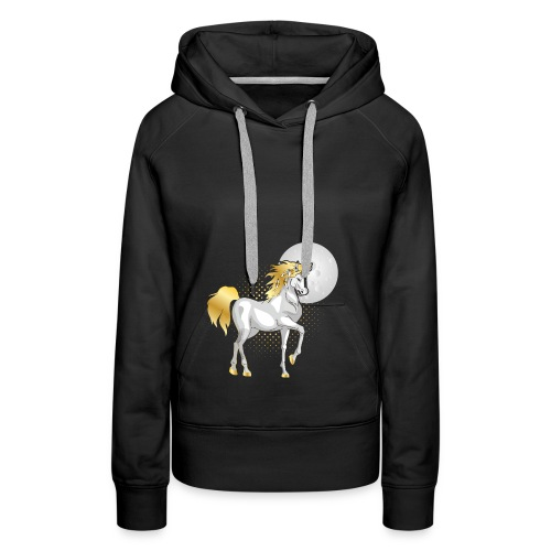 moonlight the unicorn - Women's Premium Hoodie