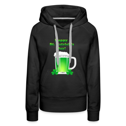 Saint Patrick Day t-shirt - Sweat-shirt à capuche Premium pour femmes