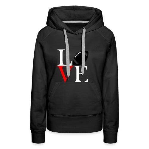 Love Symbol im Football Style - Frauen Premium Hoodie