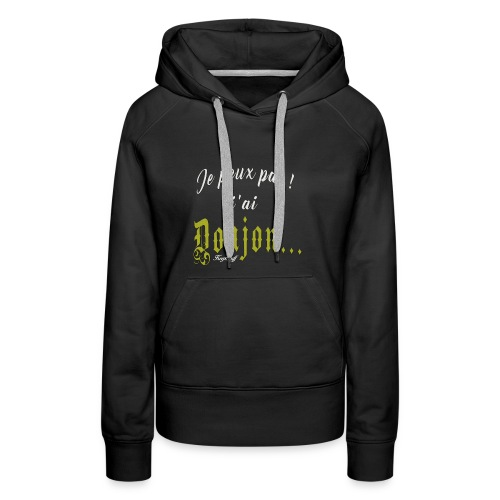 KeepStuff-Jaune-Donjon - Sweat-shirt à capuche Premium pour femmes