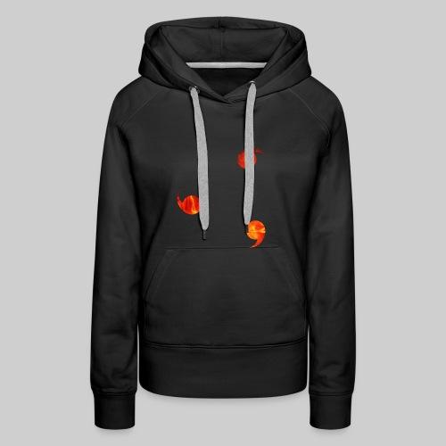 Genjustu brûlant - Sweat-shirt à capuche Premium pour femmes