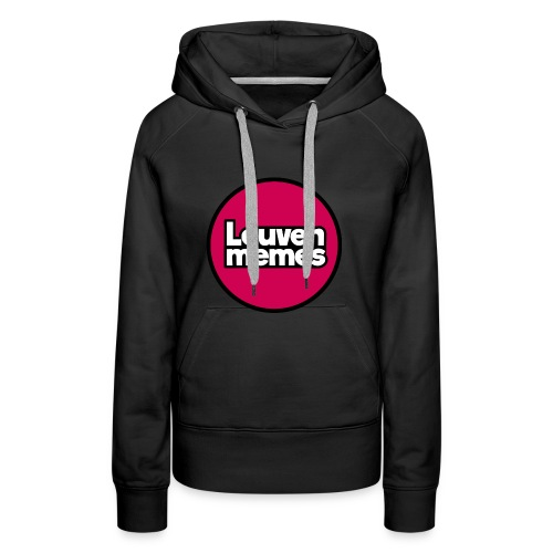 Logo LeuvenMemes - Sweat-shirt à capuche Premium pour femmes