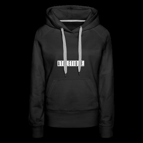 athlétique. (schwarz-auf-weiß) - Frauen Premium Hoodie