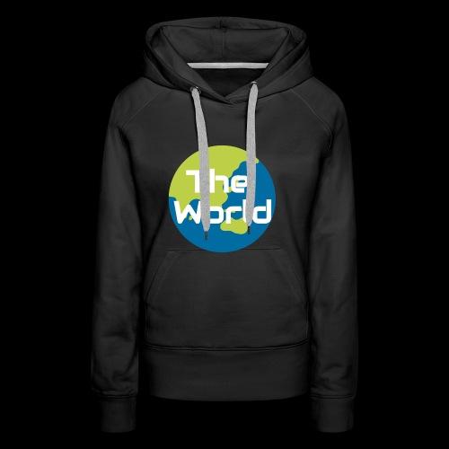 The World Earth - Dame Premium hættetrøje
