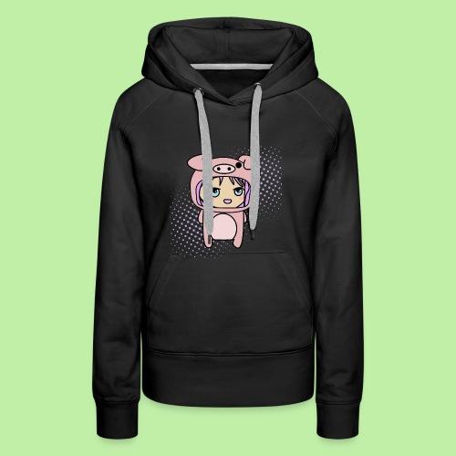 Super kawaii anime kid in piglet outfit - Women's Premium Hoodie