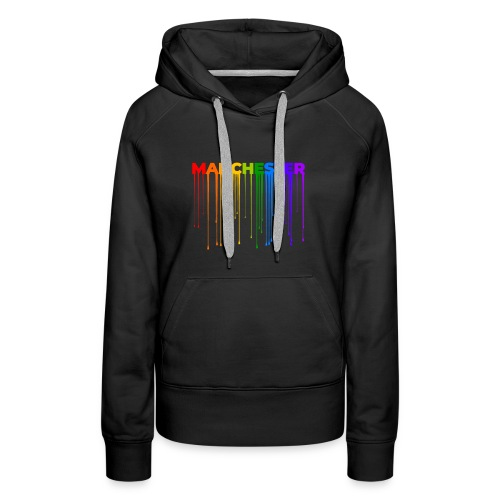 Manchester Dripping Rainbow - Women's Premium Hoodie
