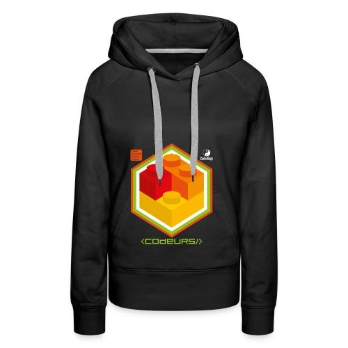Esprit Brickodeurs - Sweat-shirt à capuche Premium pour femmes