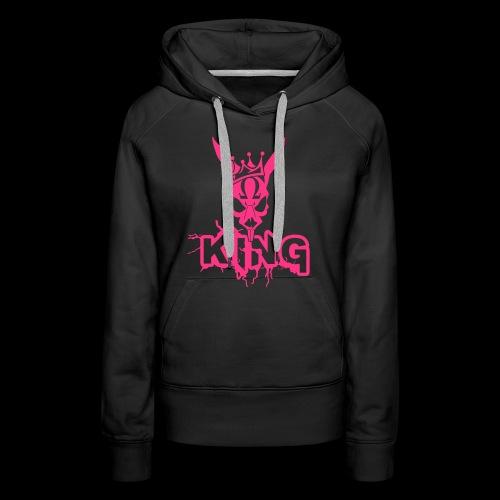 King Rabbit - Felpa con cappuccio premium da donna