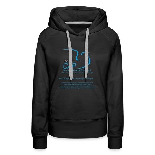 logoCAPLCart18eng - Sweat-shirt à capuche Premium pour femmes