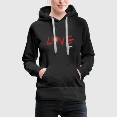Jeu de basket-ball amour - Sweat-shirt à capuche Premium pour femmes