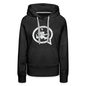 QUAD TALK DISTRESSED LIGHT - Women's Premium Hoodie