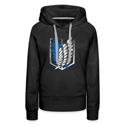 Logo Attack On Titan Brigade d'exploration - Sweat-shirt à capuche Premium pour femmes