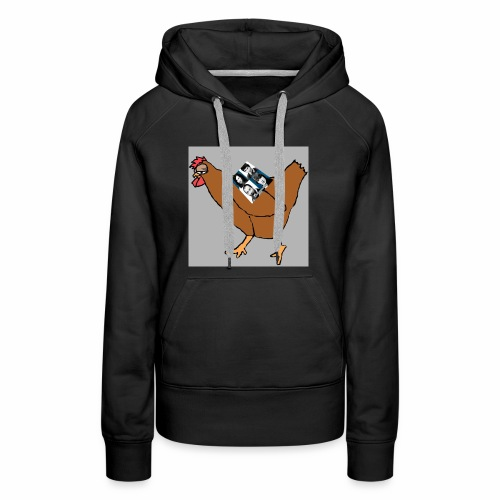 Quad Chicken Logo - Women's Premium Hoodie