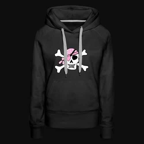 pirate f - Sweat-shirt à capuche Premium pour femmes