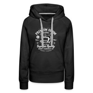 CUT AND SEW - Nähmaschinen Shirt Motiv - Frauen Premium Hoodie