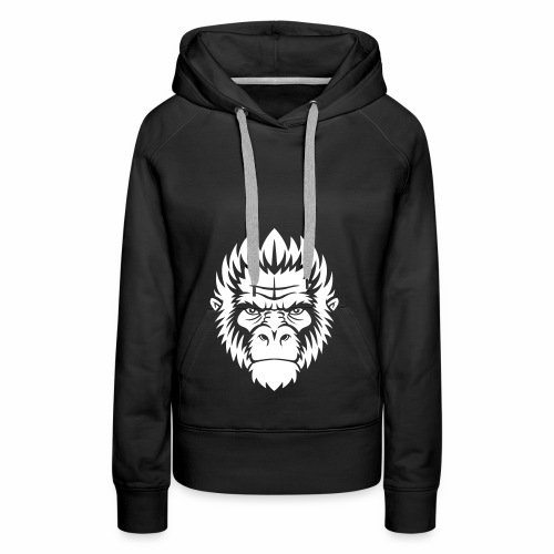 gorilla white - Sweat-shirt à capuche Premium pour femmes