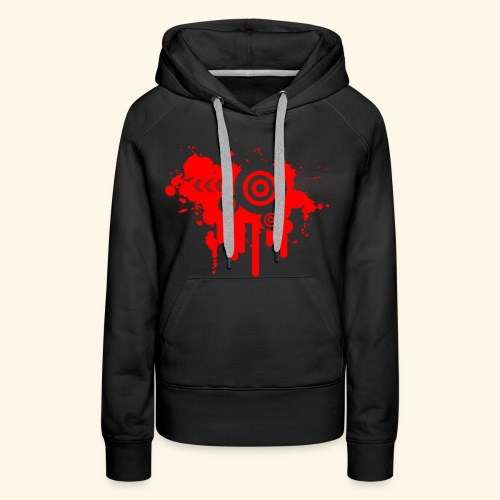Grunge Vector Red! - Women's Premium Hoodie