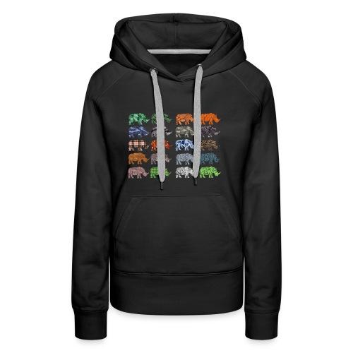 Multi Rhino - Women's Premium Hoodie