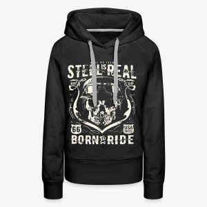 Have No Fear Is Real Born To Ride est 68 - Women's Premium Hoodie