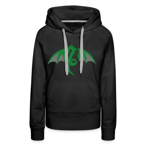 Red eyed green dragon - Vrouwen Premium hoodie