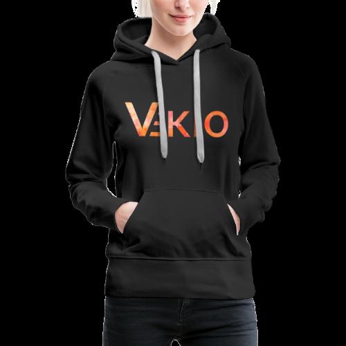 Vekio Feu - Sweat-shirt à capuche Premium pour femmes