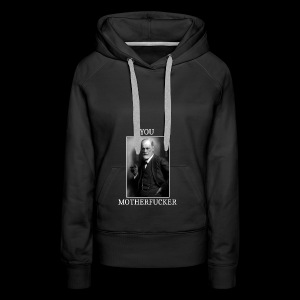 Sigmund Freud MEME - Sweat-shirt à capuche Premium pour femmes