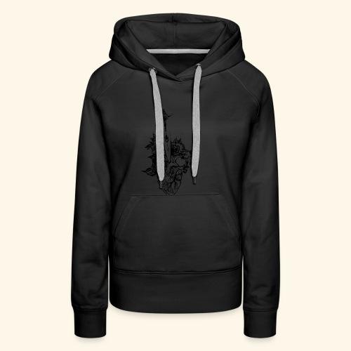 la nature du coeur - Sweat-shirt à capuche Premium pour femmes