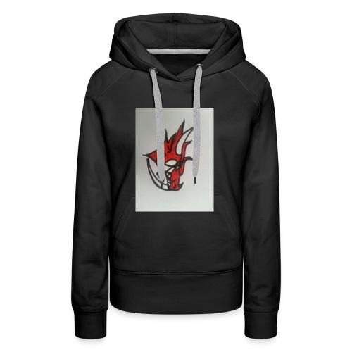 drago - Felpa con cappuccio premium da donna