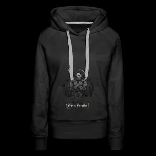 Life is Feudal Steam Badge 1 - Sweat-shirt à capuche Premium pour femmes
