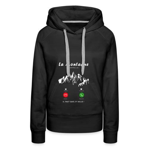 montagne - Sweat-shirt à capuche Premium pour femmes