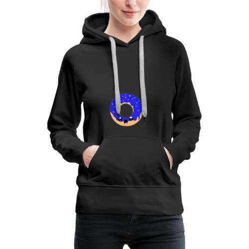 donut22blue - Sweat-shirt à capuche Premium pour femmes