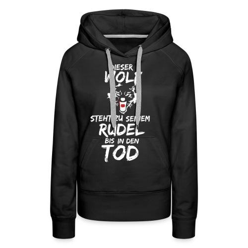 Wolf T Shirt Hoodie Sweatshirt Pullover - Frauen Premium Hoodie