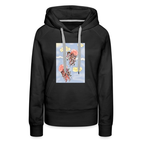 Méduses volantes - Sweat-shirt à capuche Premium pour femmes