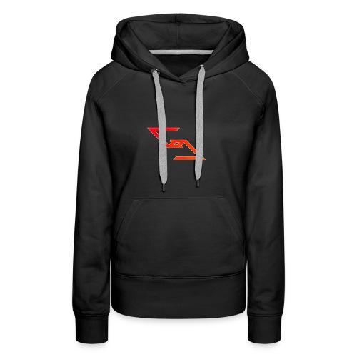 Logo et paterne de la marque. - Sweat-shirt à capuche Premium pour femmes