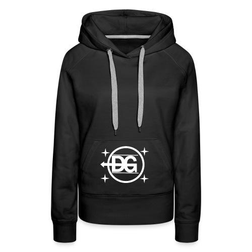 DG logo weiß - Frauen Premium Hoodie