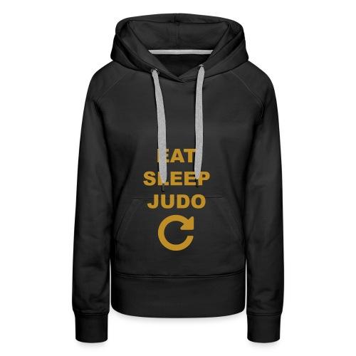Eat sleep Judo repeat - Bluza damska Premium z kapturem