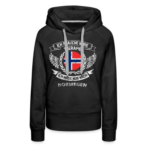 norwegen therapie t shirt retro dfd - Frauen Premium Hoodie