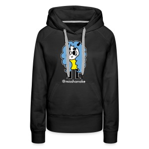 hana-chan ✻ blue yellow white - Women's Premium Hoodie
