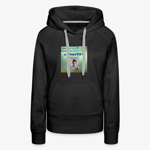 Leman974 logo - Sweat-shirt à capuche Premium pour femmes