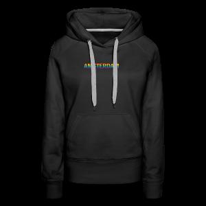 Amsterdam in gay pride rainbow kleuren - Vrouwen Premium hoodie