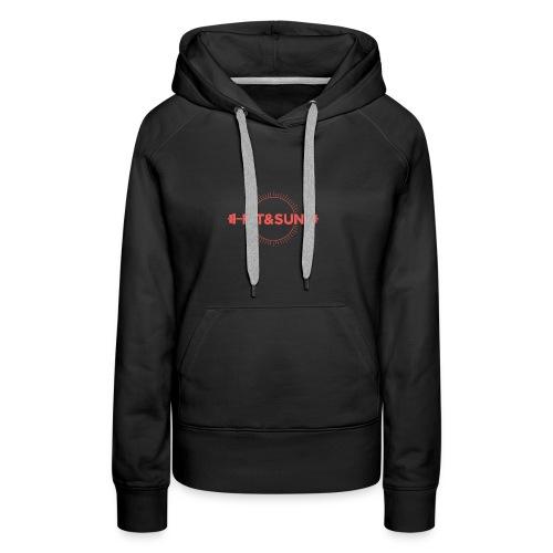 FIT SUN logo V2 corail2 copie - Sweat-shirt à capuche Premium pour femmes